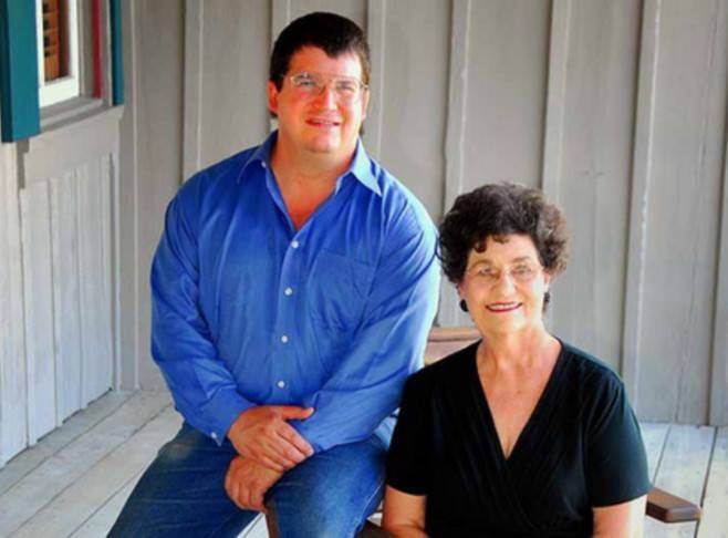 Margaret Kuebler Waldrip and son, Darrell Waldrip