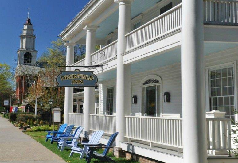 A large white building at Deerfield Inn.