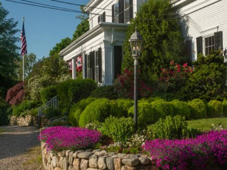 A close up of a flower garden at Liberty Hill Inn Bed & Breakfast.