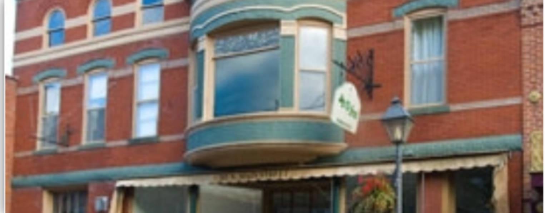 A close up of a brick building at 305 North Inn.
