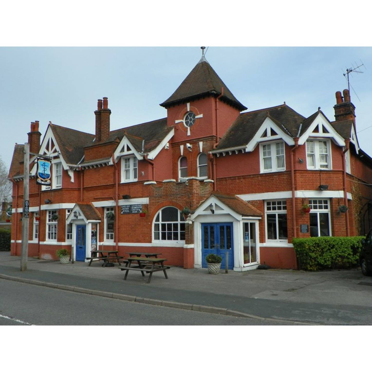 An old brick house at The Blue Anchor.