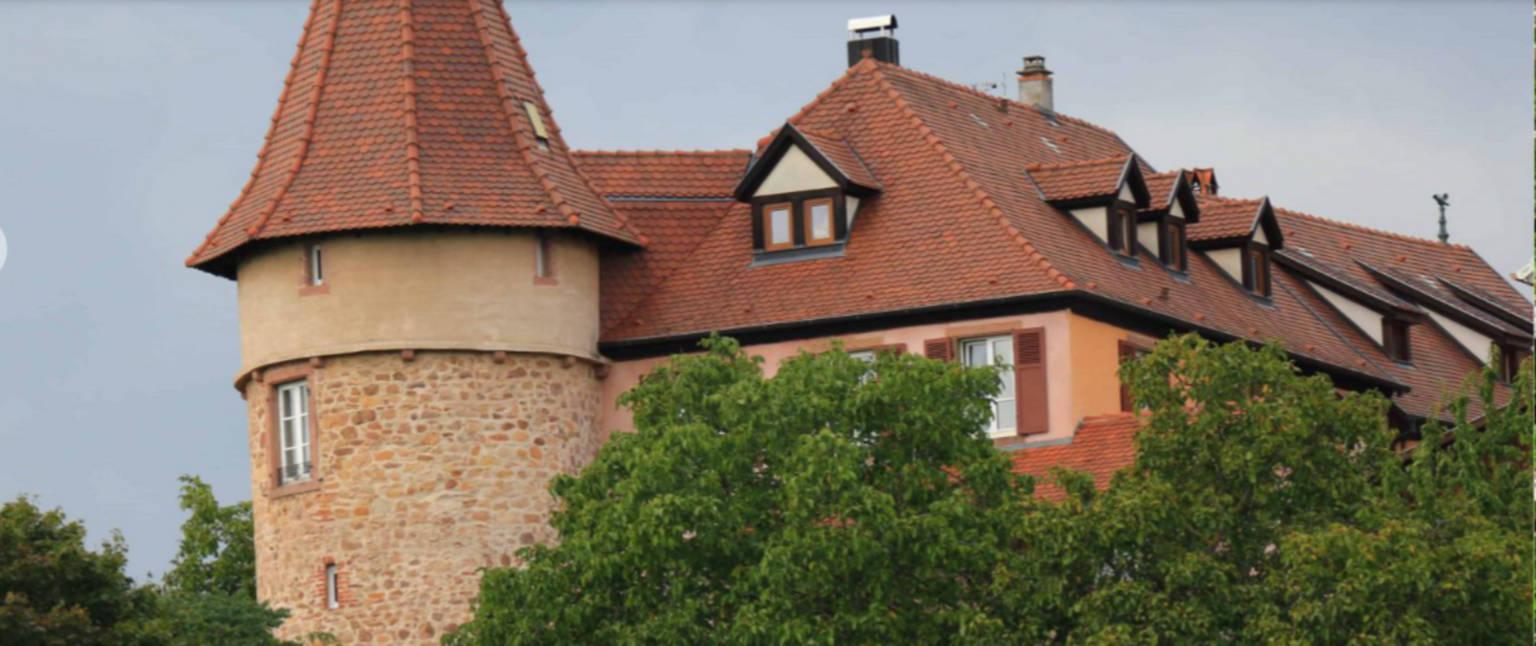 A large brick building at Clos Froehn.