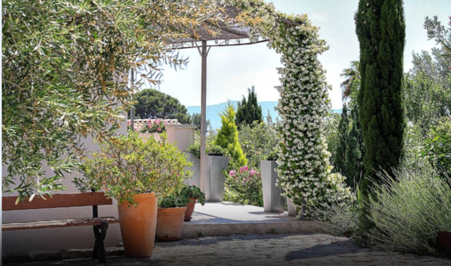 A group of bushes and trees at Le CLos du Jas.