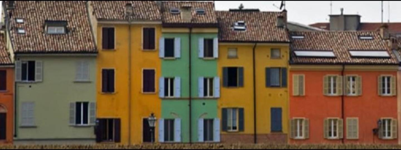 A large brick building at Le Grazie Parma.