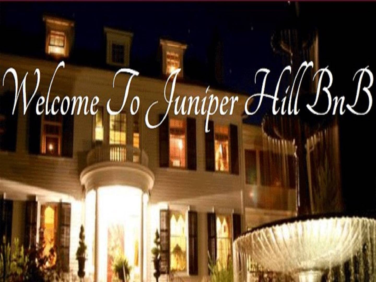 A store front at day at Juniper Hill Bed & Breakfast.